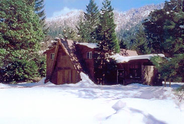 Family Lodge at Winter Time